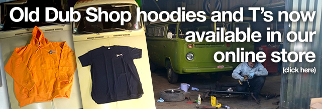 Wear the same as our mechanics in these great Old Dub Shop logo hoodies and t-shirts